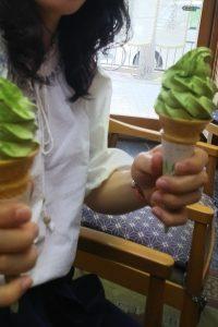 竹村玉翠園抹茶アイス