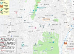 倉橋マンションー白河総合支援学校避難所マップ